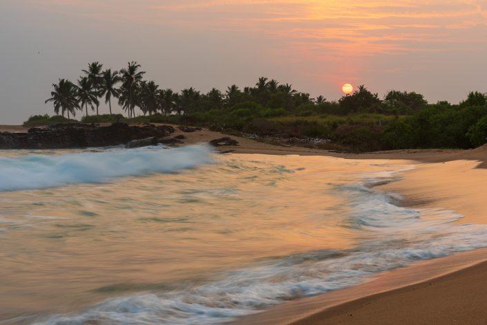 sunset near to elmina, ghana