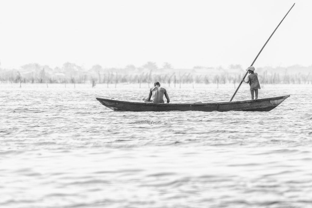 Fishing in the lagoon of Ganviè