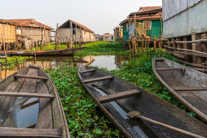 In the stilt village Ganviè, africa, benin
