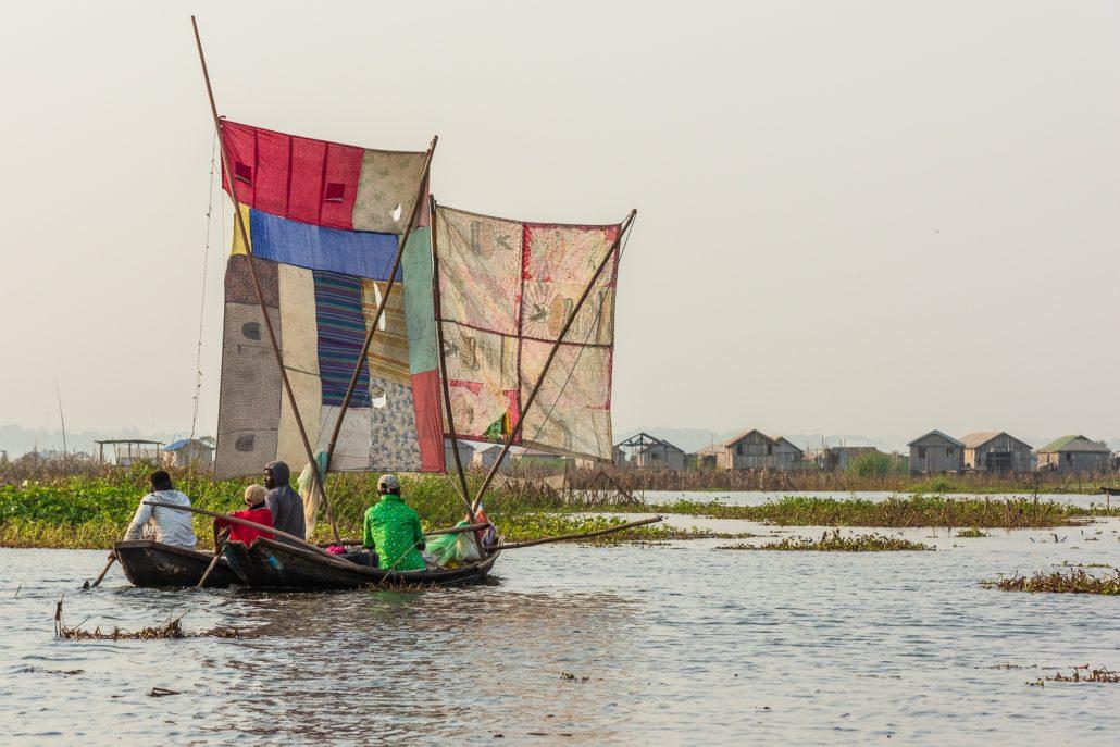 Fishing boat returning home