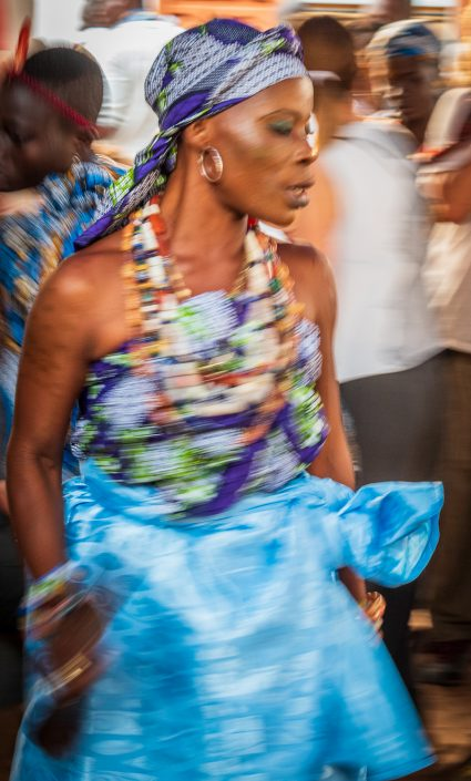 Dancing during the voodoo festival in Ouidah