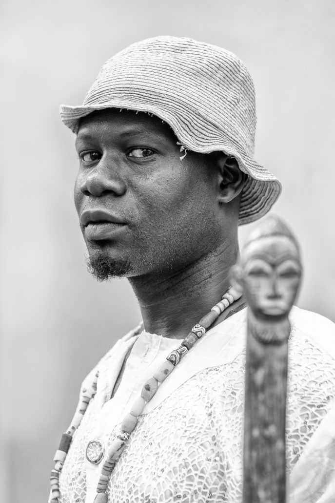 An adept during a Voodoo ceremony