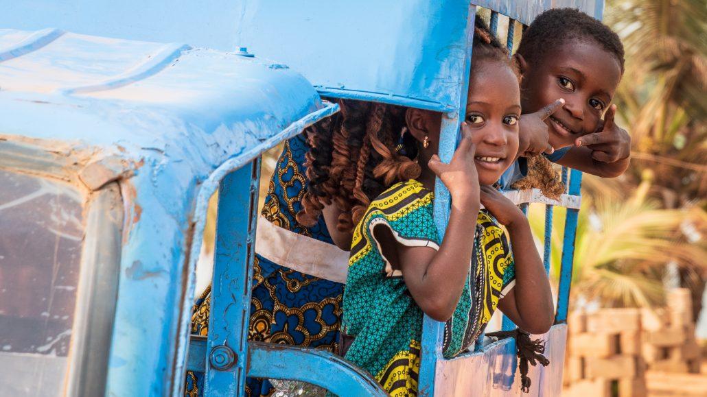 kids in Gran Popo, benin, africa