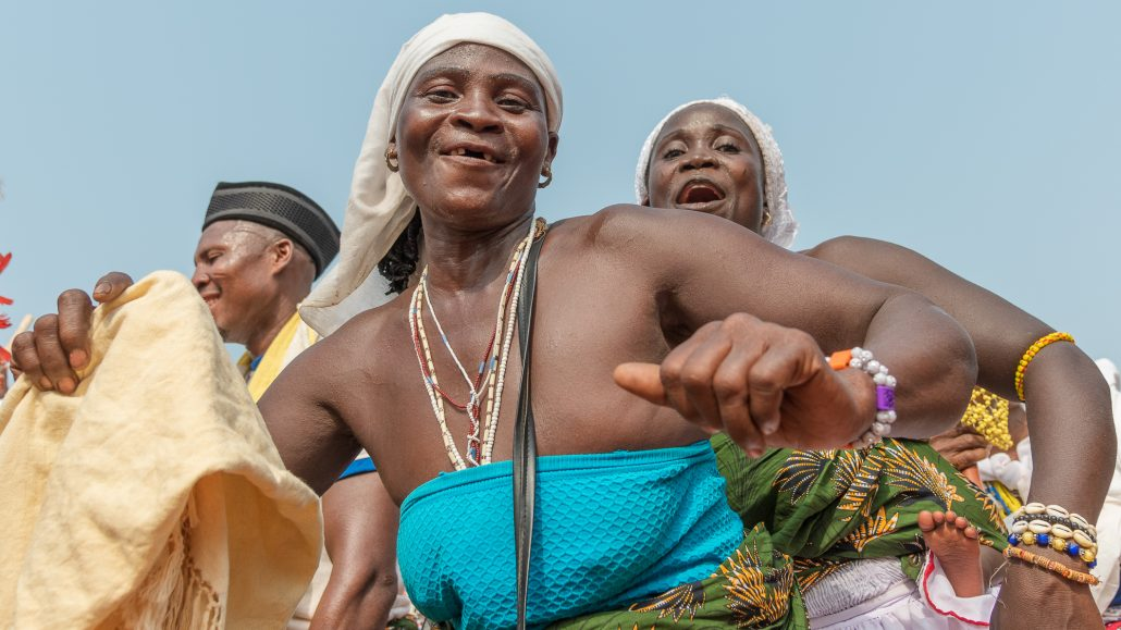 dancing in Gran Popo, voodoo festival, benin