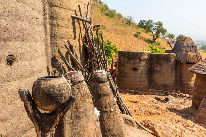 Africa, Togo. Koutammakou, Tamberma people. Unesco World Heritage site.