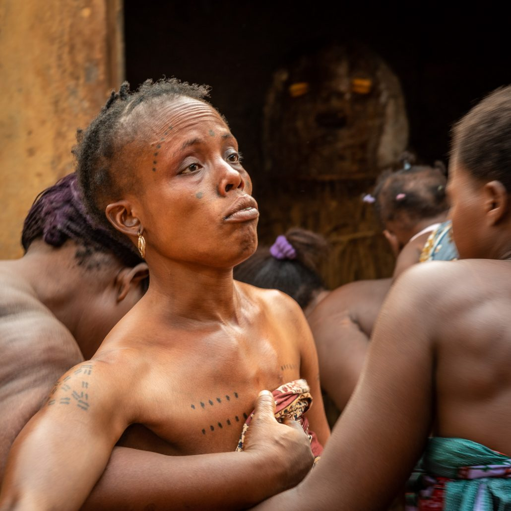 a voodoo ceremony in southern togo
