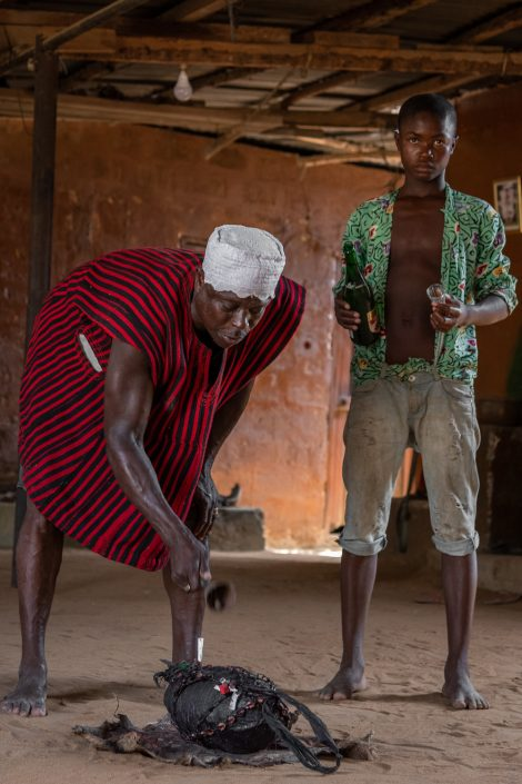 traditional healer in togo, africa