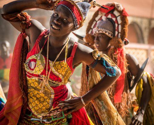 The carnival in Guinea Bissau