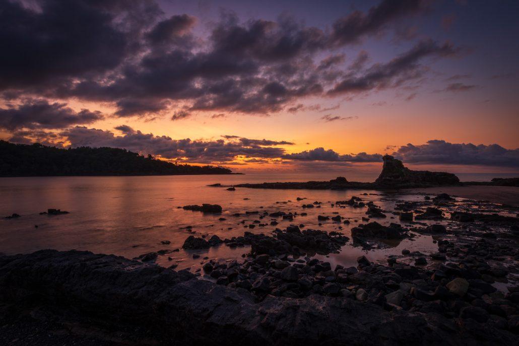 sunset Principe Island