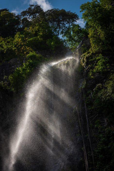 waterfall Principe Island