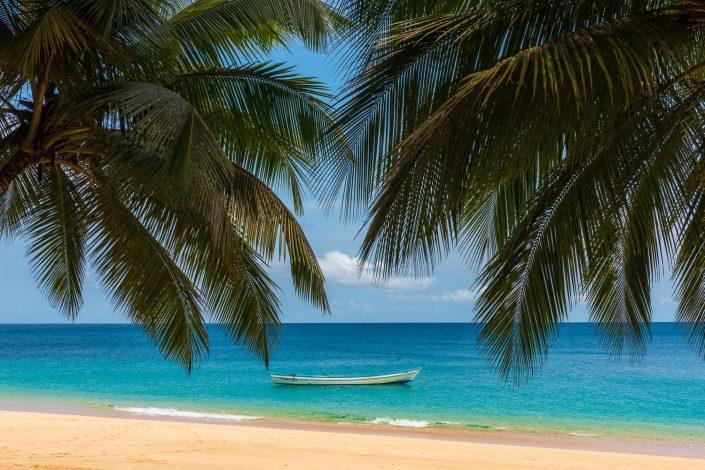beach on principe island