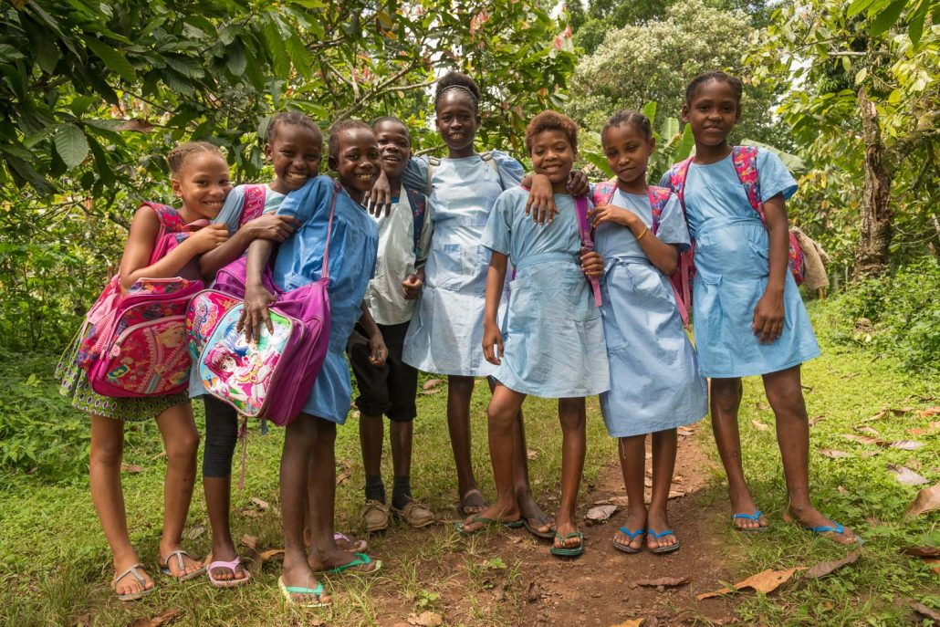 schoolkids in Sao Tome