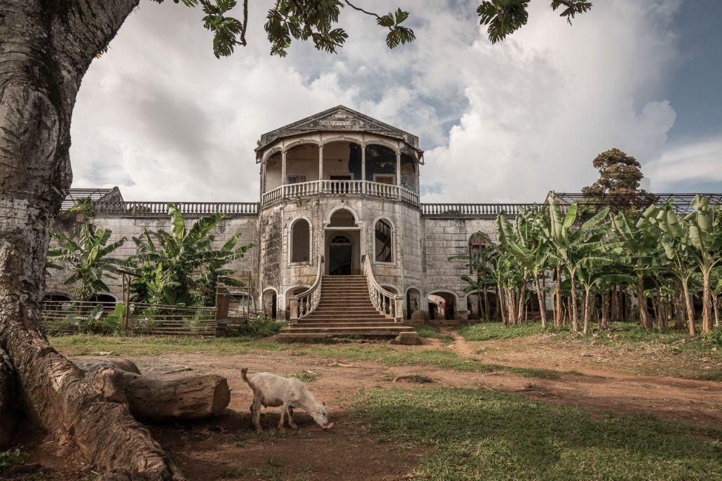 abandoned plantation in Sao Tome