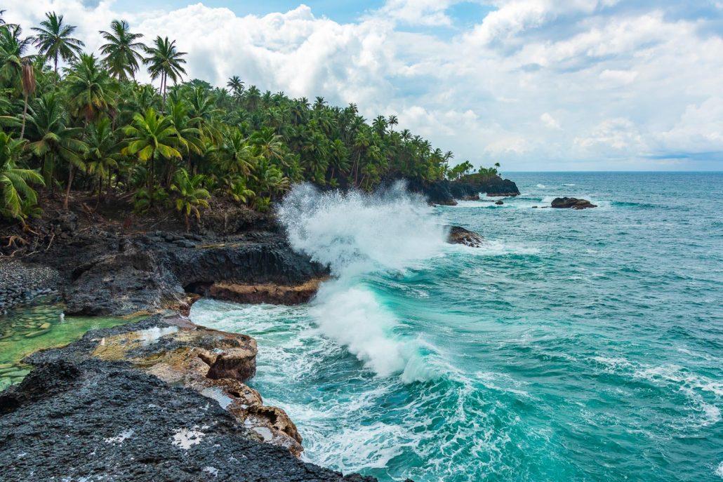 Ocean in Sao Tome